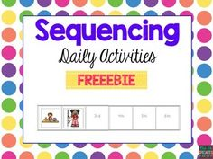 This is the perfect set for making sequencing meaningful and relevant to students. Sequencing is a functional skill for all students to master.Students need to use sequencing in a variety of ways and settings. It is imperative that students are able to sequence for many life skills such as cooking, reading comprehension, following directions, etc.