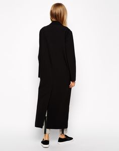 Crepe Duster Jacket in Maxi Length