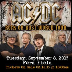 Ford Field Detroit Tickets September 8th http://www.concertzap.com/ac-dc-tickets/ac-dc-ford-field-detroit-9-8-2015-at-3-30-am.html