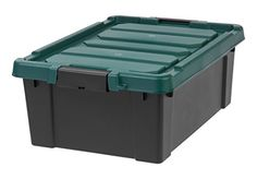 camping box kitchen - Remington 10 Gallon Store-It-All Tote, Black ** Read more at the image link. (This is an affiliate link) Plastic Storage Totes, Fabric Storage Baskets, Storage Tubs, Lid Storage, Fabric Boxes, Tote Storage, Storage Containers, Wicker Baskets With Handles, Plastic Baskets