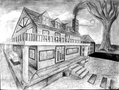 Perspective Drawings Of Buildings two point perspective photographic example | drawing - perspective