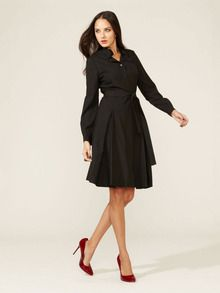 I think I already pinned this, but I still like it... Anne Wool Pleated Shirtdress by Elie Tahari at Gilt