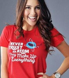 Never Trust An Atom, They Make Up Everything T-Shirt by SnorgTees. Men's and women's sizes available. Check out our full catalog for tons of funny t-shirts. Teacher Outfits, Teacher Clothes, Science Shirts, Never Trust, Birthday Wishlist, Cool T Shirts, Funny Tshirts, Everything, Fall Outfits