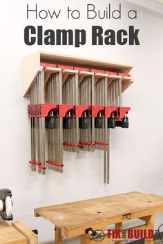 Learn How to Build a Clamp Rack that will hold all of your clamps and can be modified to fit your needs!