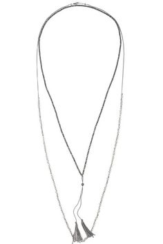 CHAN LUU Set of two silver-plated, crystal and hematite necklaces/ $54.4($272.26) / 12 JULY 2014