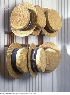 Boater hats were straw hats worn in daytime or summer. (M.S. J.S. A.J. B.M…