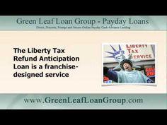 The Liberty Tax #RefundAnticipationLoan is a high-cost financial service: http://youtu.be/51zx-ZkbHms Get loans at http://www.greenleafloangroup.com/ instead
