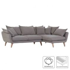 Ecksofa Valby - Baumwollstoff - Fashion For Home
