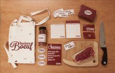 Boucherie LeBoeuf Butchery by Frédérique Foucault, via Behance