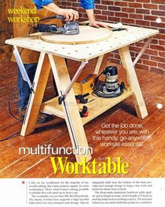 Hobby Desk Plans - Workshop Solutions Projects, Tips and Tricks - Woodwork, Woodworking, Woodworking Plans, Woodworking Projects Woodworking Power Tools, Woodworking Saws, Learn Woodworking, Woodworking Projects, Kreg Tools, Carpentry, Tool Workbench, Portable Workbench, Workbench Ideas