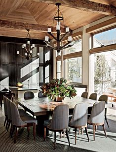 28 Beautiful Dining Room Table for 12 - Dining Room Design Ideas Dining Room Sets, Elegant Dining Room, Modern Dining Table, Dining Room Design, Dining Area, Rustic Table, Large Dining Room Table, Long Dinning Table, Kitchen Tables