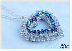 Rita Pearls: Passione / second Beaded Jewelry Designs, Bead Jewellery, Seed Bead Jewelry, Seed Bead Necklace, Beaded Earrings, Beaded Bracelets, Swarovski, Crystal Beads, Handcrafted Jewelry
