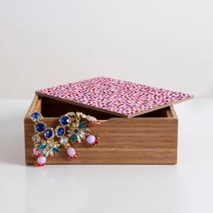 Garima Dhawan Watercolor Dots Berry Jewelry Box | DENY Designs Home Accessories #pantone #coloroftheyear #radiantorchid