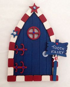 Hand Painted Tooth Fairy Door - Alternative For Boys in Collectables Fantasy/ Myth/ & Magical Hand Painted Pink Fairy / Tooth Fairy Door | Tooth fairy ... pezcame.com