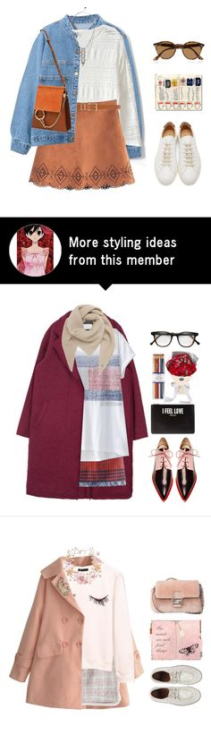 """""""*1343"""" by cutekawaiiandgoodlooking on Polyvore featuring Dorothy Perkins, Chloé, DANNIJO, Ray-Ban and Common Projects"""