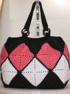 Handmade wool crochet hook handbag hobo women bag. via Etsy.