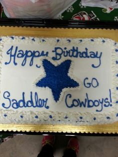 Cowboy football birthday cake by Just Bite Me Creations