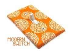 Orange Mums Light Switch Cover Chrysanthemum by ModernSwitch, $12.00