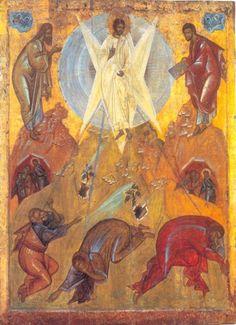 The Transfiguration of Jesus (Theophanes the Greek Byzantine Icons, Byzantine Art, Religious Icons, Religious Art, The Transfiguration, Black Jesus, Religion Catolica, Life Of Christ, Jesus Prayer