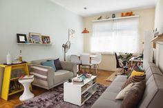 Apartamento pequeno de 46 m2 é decorado com economia e bom humor - Casa Small apartment solutions