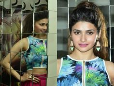 "Bollywood Celebrity Prachi Desai was seen at the Mehboob Studio in Mumbai for Promote her Upcoming Movie ""Ek Villain""."