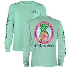 Simply Southern Preppy Be Sweet Pineapple Bow Long Sleeve T-ShirtAvailable in…