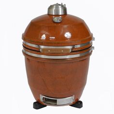 Hanover HAN191KMD-RT 19 In. Kamado Style Ceramic Grill with Build Kit-Rusted, Grey metal
