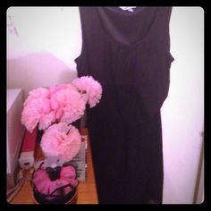 REPOSH: Little Black Dress REPOSH: Beautiful Little Black Dress. Sheer Over Satin like Material. Cinched at the waist. XL. Dresses
