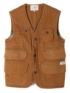 """Gooseberry Lay & Co. Duck Duck Hunting Vest """"Tobacco Canvas"""" - NOCLAIM"""