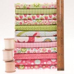 Quite Contrary and Lovebirds fabric bundle rileyblake~emmasfabricstudio