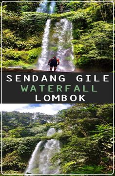 Sendang Gile Waterfall is located just north of Rinjani volcano, In the north region of the island of Lombok in Indonesia. Travel And Tourism, Asia Travel, Travel Destinations, Travel Guides, Travel Tips, Country Maps, Horse Carriage, Go Outdoors, Travel Plan