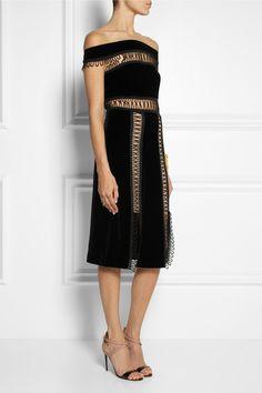 F/W 13-14   CHRISTOPHER KANE Loop tape-trimmed velvet dress  (Runway)