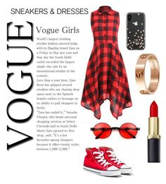 """Red vibes"" by antobiscuit on Polyvore featuring Converse, Kate Spade and Cartier"