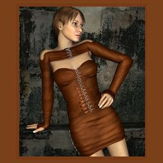Rust V4 - $6.50 : This super conforming out fit for V4 comes with a strap up top, skirt and sleeves, it comes with highly detailed texture maps at 3000 x 3000 and has 11 mat pose files for the clothes, Ash, Bark, Dusk, Dust, Mist, Moss, Rust, Shiny Black, Shiny Blue, Shiny Red and Shiny Green with separate texture groups for the straps and the clothes so you can mix the textures as you like.  There are also 8 mat pose files for the buckles in Black, Blue, Bronze, Dull, Gold, Green, Red and Silver. Rust V4  $3.25 Save: 50% off Special expires Saturday 13 June, 2015