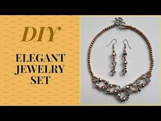 DIY Beaded Necklace Earring Set | Gift Idea, Easy, jewelry making - YouTube
