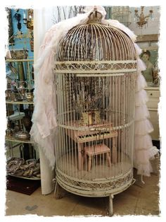 Over the Rainebeau,,,love this miniature piano in a bird cage.