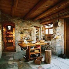 Cocina rústica de piedra y madera! MI FASCINACIÓN !