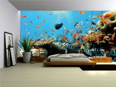 Wallpaper Mural ''REEF'' Fleece Photo Wallpaper Wall Murals (4-005VE) (4. (208x146cm) (WxH) XL- 2 panels) by Decoshop2013, http://www.amazon.co.uk/dp/B00CZ6U53O/ref=cm_sw_r_pi_dp_om.7sb127FQD3