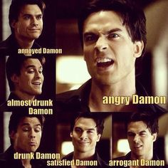 Damon Salvatore.... Why.. why did my mind try to sing that to the tune of soft kitty?