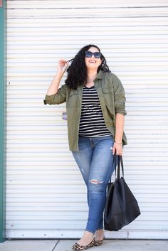 How to Mix Stripes and Leopard Print, by Tanesha Awasthi or Girl With Curves.