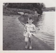 Little Girl In Bathing Suit Vintage Photo by foundphotogallery