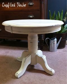 Chalk Painted Pedestal Table   Google Search