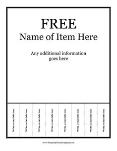 This very basic flyer template is highly customizable and includes ...