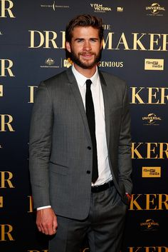 Liam Hemsworth looked dapper at the premiere for his film The Dressmaker