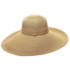Belladonna Straw Hat Gold Hats (769.775 IDR) ❤ liked on Polyvore featuring accessories, hats, metallic gold, brim straw hat, brim sun hat, brimmed hat, wide brim sun hat and sun hat