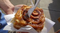 Caramel sticky bun - MN state fair food review from www.theculinarycapers.com