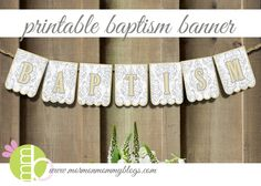 Free Printable Banner for Baptism