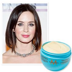 """Moroccanoil Intense Hydrating Mask  """"My hair has been damaged so much by color, and this mask has recovered it. Sometimes I sleep with it in my hair."""" —Emily Blunt-- I love this stuff!!     $33; moroccanoil.com for salons."""