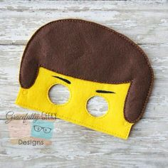Emmet Felt Mask Embroidery Design - 5x7 Hoop or Larger on Etsy, $6.00