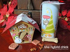 Santa Paws is Coming to Town Packaging made with the country cottage birdhouse cutting file